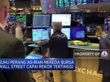 AS-Iran Mereda, Bursa Amerika Capai Rekor Tertinggi