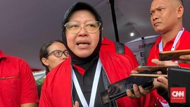 Dipuji Mega Di Hadapan Jokowi, Risma Ucapkan Terima Kasih