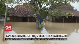 VIDEO: Tanggul Kembali Jebol, 5 Desa Terendam Banjir