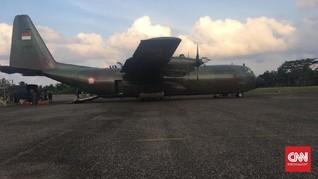 Pesawat Hercules Milik TNI AU Mendarat Darurat di Aceh Utara