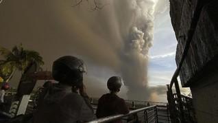 Gunung Taal Filipina Erupsi, Warganet Kirim Doa