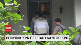 VIDEO: Penyidik KPK Geledah Kantor KPU