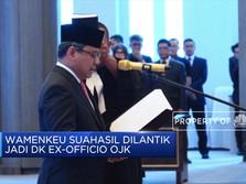 Sah, Wamenkeu Suahasil Dilantik Jadi DK Ex-Officio OJK