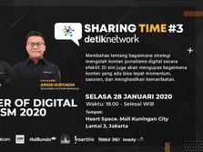 Mau Jadi Jurnalis Digital? Yuk Ikut Sharing Time Detiknetwork