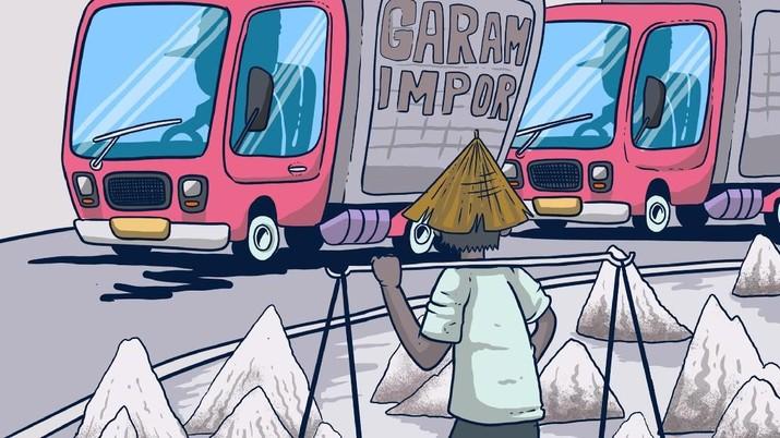 Infografis/RI belum lepas dari garam impor/Aristya Rahadian Krisabella