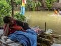 FOTO : Tanggul Sungai Tuntang Demak Jebol, Permukiman Banjir