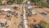 Di Benin, Afrika Selatan, sedang dipersiapkan sebuah festival voodoo tahunan. (Yanick Folly/AFP)
