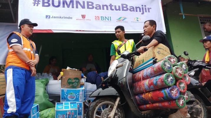 Intip Sinergi BUMN Untuk Korban Banjir Lebak Banten