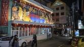 Wujud bangunan Pyeongyang Baryang berlokasi diHongdae, kawasan hiburan malam di Seoul, Korea Selatan. (AFP/Ed Jones)