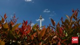 Monumen ini dilapisi dengan marmer Italia. (CNNIndonesia/Safir Makki)