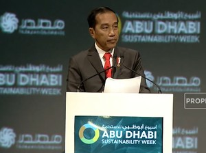 Detik-detik Jokowi Pamerkan Konsep Ibu Kota Baru di Abu Dhabi