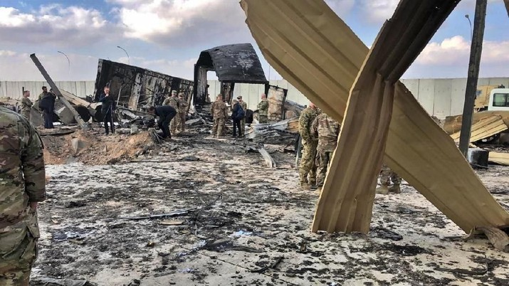 Begini Porak Poranda Markas Militer AS yang Dibombardir Iran