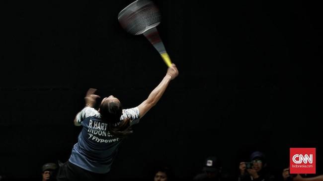 Kekalahan tiga pemain tersebut membuat Indonesia tak punya wakil di nomor tunggal putri pada babak kedua Indonesia Masters 2020. (CNN Indonesia/Andry Novelino)