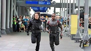 Gempa, Syuting The Falcon and The Winter Soldier Ditunda