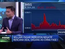 Jelang Deal Dagang, IHSG Malah Masuk Zona Merah