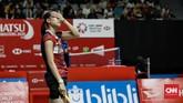 Fitriani mengulang hasil minggu lalu saat ia juga tersingkir di babak pertama Malaysia Masters. (CNN Indonesia/Andry Novelino)