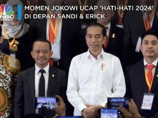 Momen Jokowi Ucap 'Hati-hati 2024' di Depan Sandi & Erick