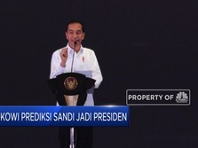 Jokowi Prediksi Sandi Jadi Presiden