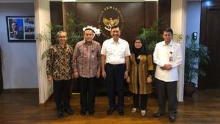 Firli Cs Lawat Luhut: KPK Dukung Penciptaan Iklim Investasi