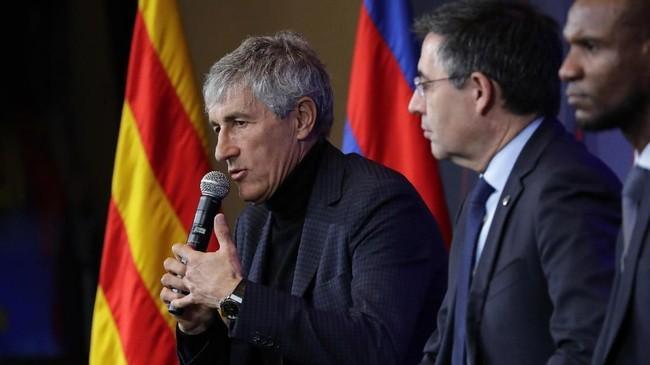 Setien berjanji akan memperbaiki performa Barcelona di lapangan. (AP Photo/Emilio Morenatti)