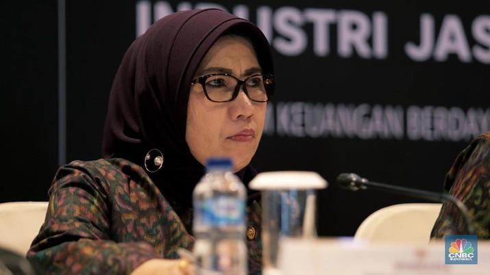 Wakil Ketua Dewan Komisioner OJK Nurhaida (CNBC Indonesia/Tri Susilo)