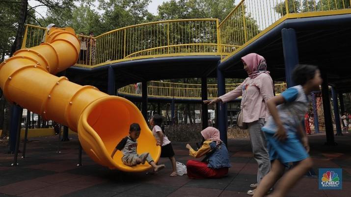 Wajah Baru Taman Puring yang Menarik Minat Anak Bermain