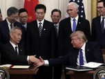 Momen Mesra Trump & China Kala Teken Damai Dagang 'Sementara'