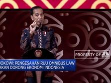 Di PTIJK, Jokowi Tantang DPR Selesaikan Omnibus Law 100 Hari