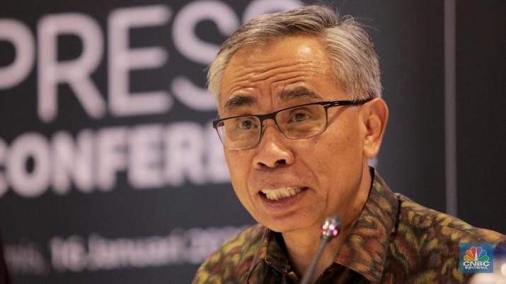 Ketua OJK Wimboh Santoso (CNBC Indonesia/Tri Susilo)