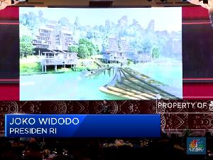 Di Depan Anies, Ini Gaya Jokowi Pamer Konsep Ibu Kota Baru