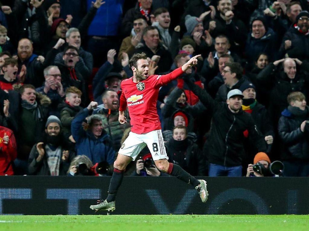 Juan Mata Loloskan MU ke Babak Keempat Piala FA