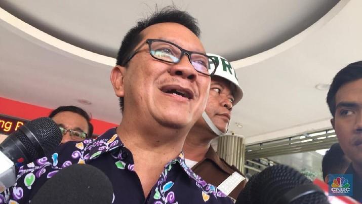 Hari Setiyono, Kepala Pusat Penerangan dan Hukum Kejagung (CNBC Indonesia/Monica Wareza)