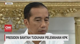 VIDEO: Presiden Jokowi Bantah Tuduhan Pelemahan KPK