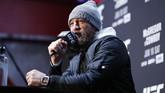 Conor McGregor di media day UFC 246. Pertarungan melawan Donald Cerrone menjadi duel pertama McGregor sejak dikalahkan Khabib Nurmagomedov pada Oktober 2018. (AP Photo/John Locher)