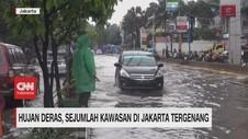 VIDEO: Hujan Deras, Sejumlah Kawasan di Jakarta Tergenang