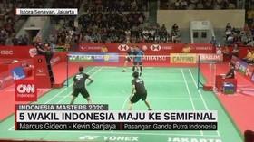 VIDEO: 5 Wakil Indonesia Maju ke Semifinal