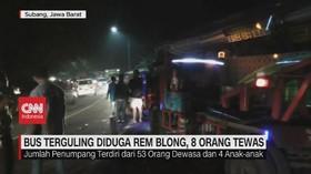 VIDEO: Kecelakaan Maut Bus Terguling, 8 Orang Tewas