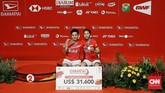 Greysia/Apriyani berhasil merebut gelar juarayang bisa jadi modal untuk tampil percaya diri tahun ini. (CNN Indonesia/Andry Novelino)