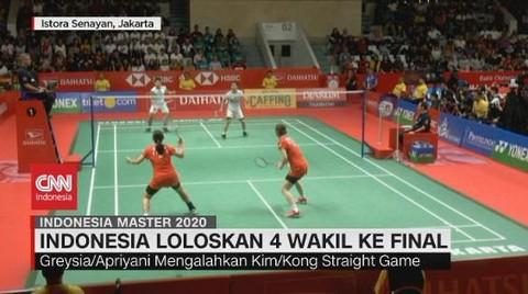 VIDEO: Indonesia Loloskan 4 Wakil ke Final Indonesia Master