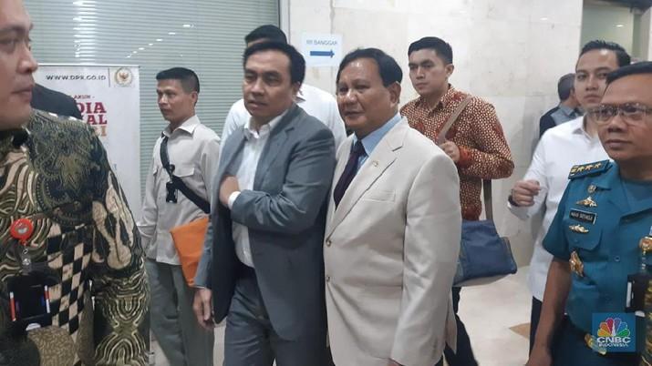 Demikian disampaikan Prabowo usai menghadiri rapat kerja dengan Komisi I DPR RI di ruang rapat Komisi I DPR RI, Jakarta, Senin (20/1/2020)