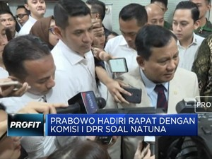 Prabowo Bahas Natuna di Rapat Kerja dengan Komisi I DPR