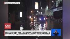 VIDEO: Hujan Deras, Sebagian Sidoarjo & Bogor Tergenang Air