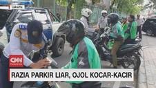 VIDEO: Razia Parkir Liar, Ojol Kocar-kacir