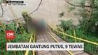 VIDEO: Jembatan Gantung Putus, 9 Orang Tewas
