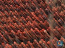 Penampakan Ribuan Buruh Demo Omnibus Law di Depan DPR