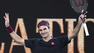 Federer Menang Mudah atas Johnson di Australia Open