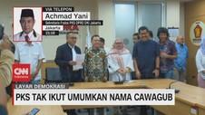 VIDEO: PKS Tak Ikut Umumkan Nama Cawagub