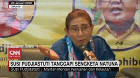 VIDEO: Susi Pudjiastuti Tanggapi Sengketa Natuna