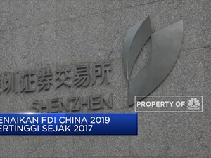 FDI China 2019 Tumbuh 5,8% (Yoy)