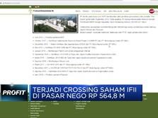Crossing Saham IFII di Pasar Nego Tembus Rp 564,8 M